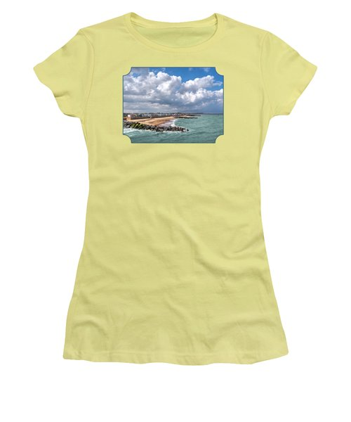 Ocean View - Colorful Beach Huts Women's T-Shirt (Athletic Fit)