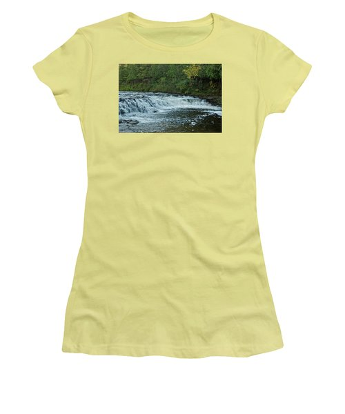 Ocqueoc Falls_9535 Women's T-Shirt (Junior Cut) by Michael Peychich
