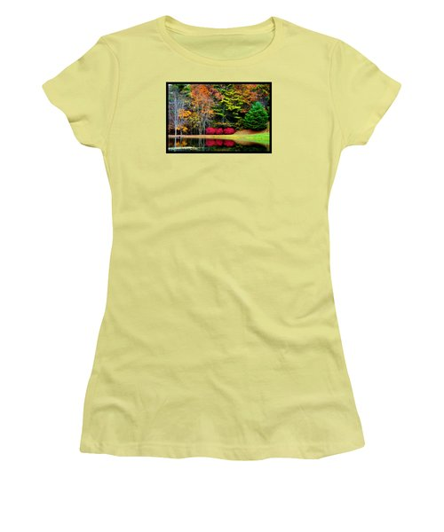 October Afternoon In The Blue Ridge Mountains Women's T-Shirt (Junior Cut) by Susanne Still