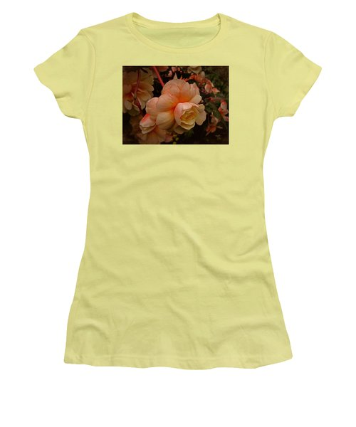 Women's T-Shirt (Junior Cut) featuring the photograph Vintage Begonia No. 2 by Richard Cummings