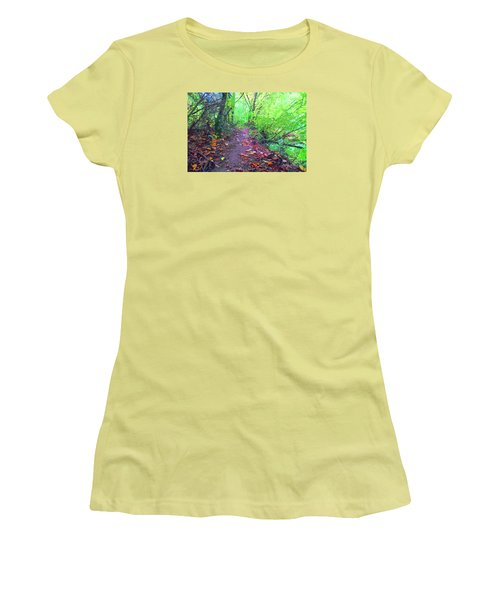 October Forest Pathway Women's T-Shirt (Athletic Fit)