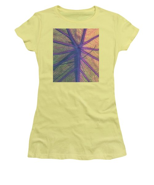 Women's T-Shirt (Junior Cut) featuring the photograph October Leaf by Peg Toliver