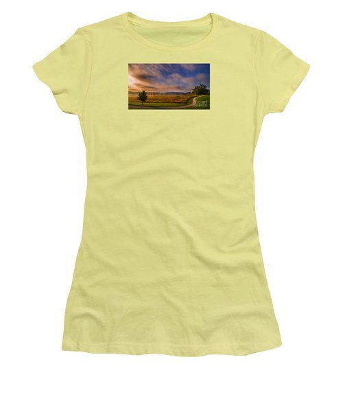 October Morning At Valley Forge Women's T-Shirt (Junior Cut) by Rima Biswas