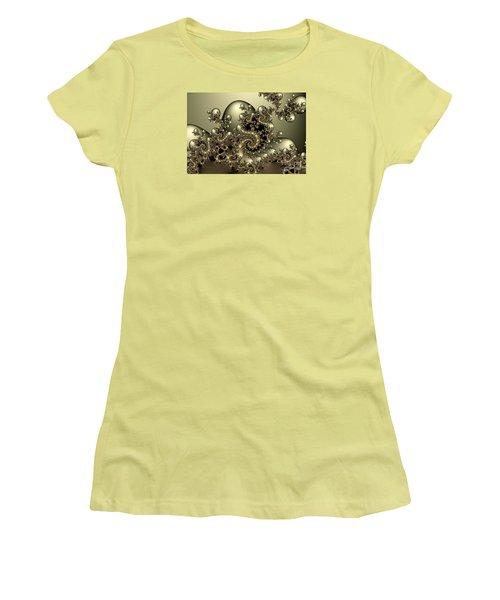 Women's T-Shirt (Junior Cut) featuring the digital art Octopus by Karin Kuhlmann