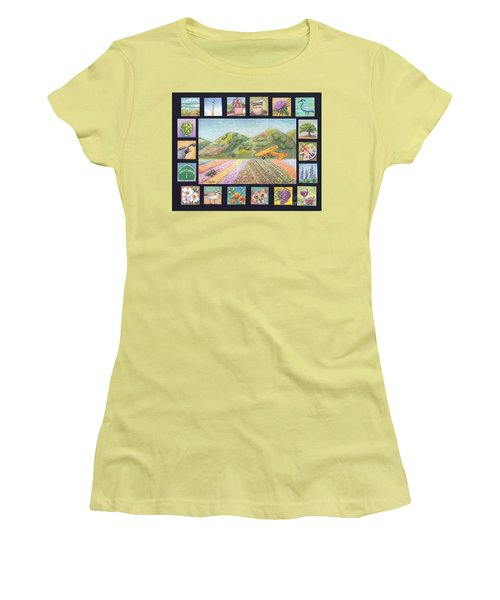 Women's T-Shirt (Junior Cut) featuring the drawing Ode To Lompoc by Terry Taylor