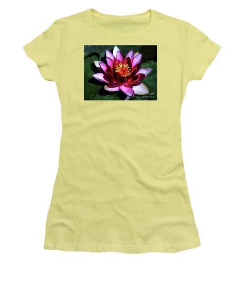 Women's T-Shirt (Junior Cut) featuring the photograph Ode To The Water Lily by Polly Peacock
