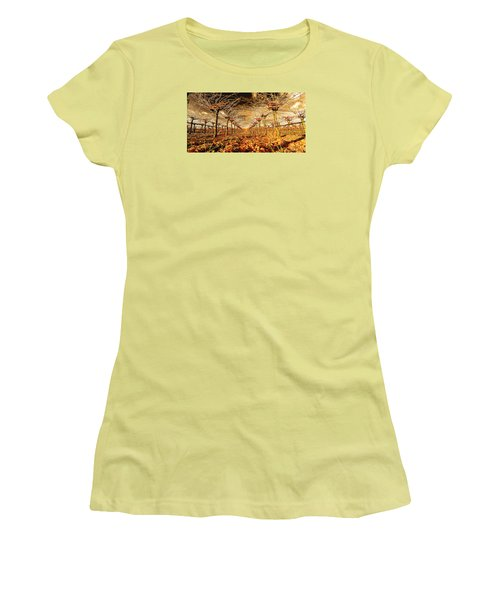 Women's T-Shirt (Junior Cut) featuring the photograph Off Of The Vine by Steve Siri
