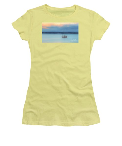 Women's T-Shirt (Junior Cut) featuring the photograph Off Sailing by Stephen Mitchell