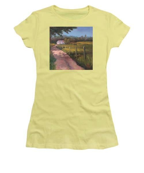 Off The Path In Whiting Bay Women's T-Shirt (Junior Cut) by Trina Teele