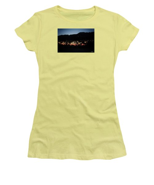 Women's T-Shirt (Junior Cut) featuring the digital art Oh Those Trees by Phil Mancuso