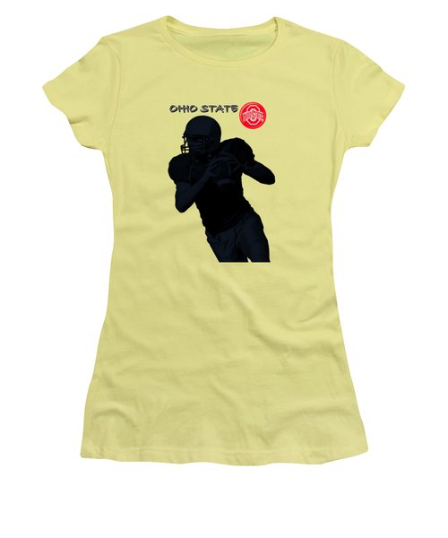 Women's T-Shirt (Junior Cut) featuring the digital art Ohio State Football by David Dehner