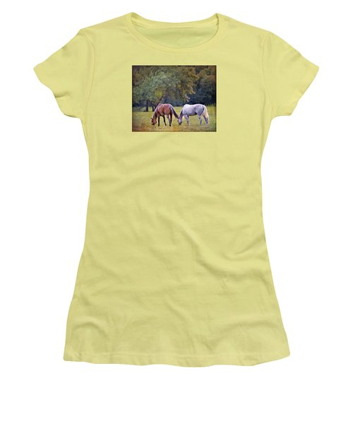 Ok Horse Ranch_2a Women's T-Shirt (Athletic Fit)