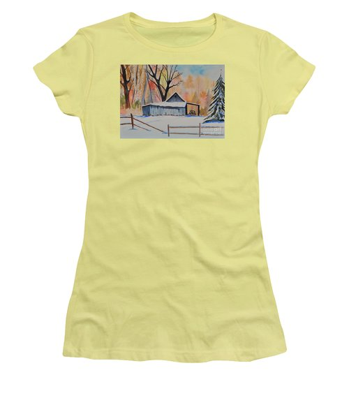 Old Barn II Women's T-Shirt (Athletic Fit)