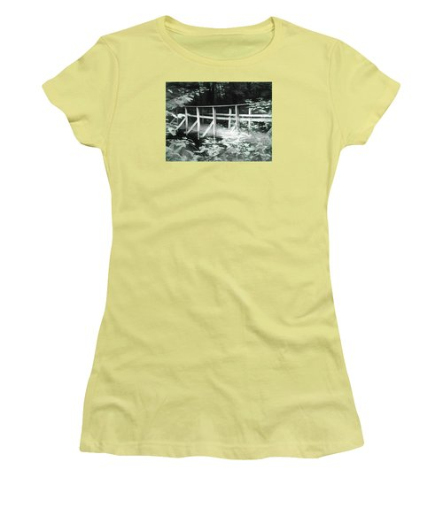 Old Bridge In The Woods Women's T-Shirt (Athletic Fit)