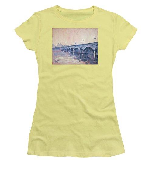 Old Bridge Of Maastricht In Warm Diffuse Autumn Light Women's T-Shirt (Junior Cut) by Nop Briex