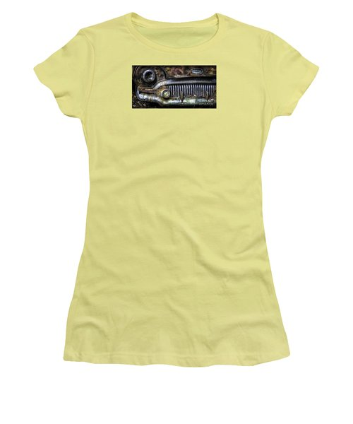 Old Buick Front End Women's T-Shirt (Junior Cut) by Walt Foegelle