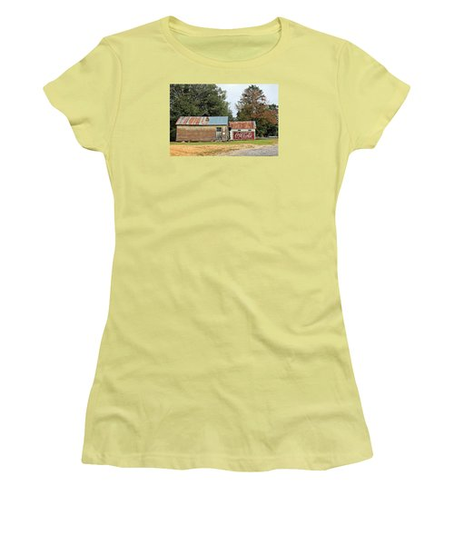 Old Buildings At Burnt Corn Women's T-Shirt (Junior Cut) by Lynn Jordan