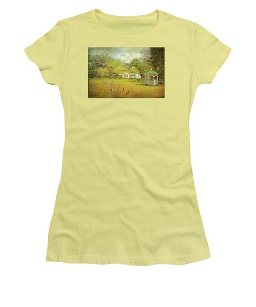 Women's T-Shirt (Athletic Fit) featuring the photograph Old Country Church by Lewis Mann