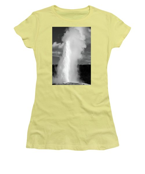 Women's T-Shirt (Athletic Fit) featuring the photograph Old Faithful by Colleen Coccia