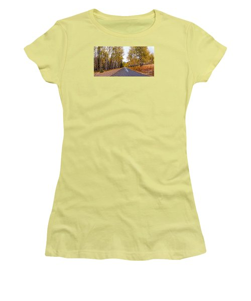 Old Fall River Road With Changing Aspens - Rocky Mountain National Park - Estes Park Colorado Women's T-Shirt (Athletic Fit)