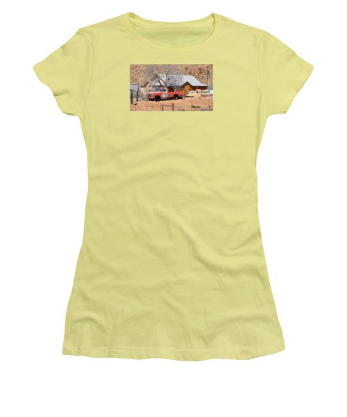 Old Farm Trucks Along Route 66 Women's T-Shirt (Athletic Fit)