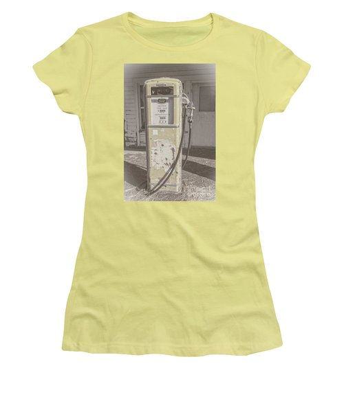 Old Gas Pump Women's T-Shirt (Junior Cut) by Robert Bales