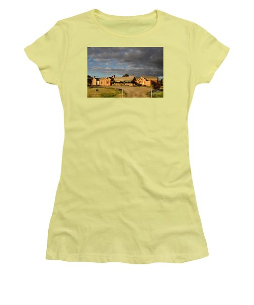 Old Ghan Railway Restaurant Women's T-Shirt (Junior Cut) by Douglas Barnard