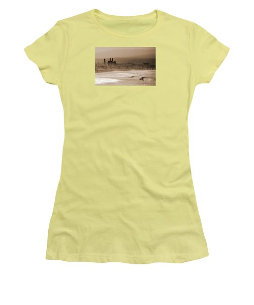Old Hermosa Beach Women's T-Shirt (Junior Cut) by Ed Clark