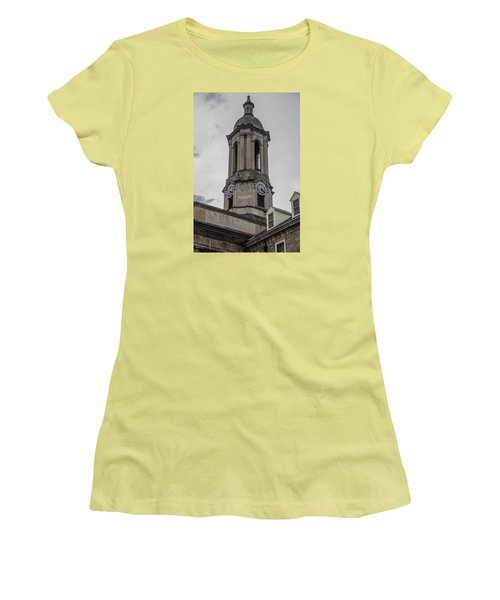 Old Main Penn State Clock  Women's T-Shirt (Junior Cut) by John McGraw