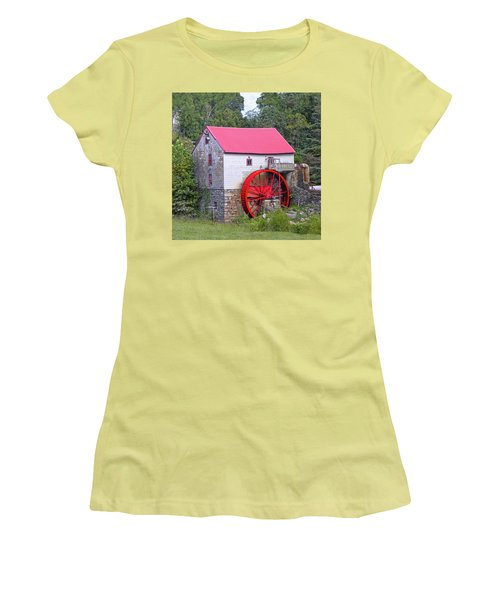 Old Mill Of Guilford Squared Women's T-Shirt (Junior Cut) by Sandi OReilly