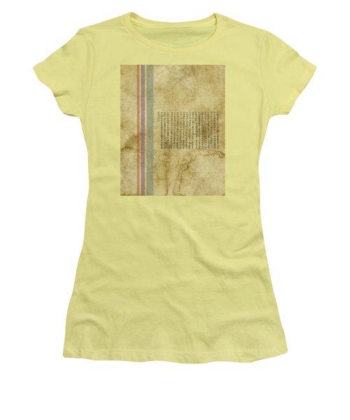 Old Paper Women's T-Shirt (Junior Cut) by Thomas M Pikolin