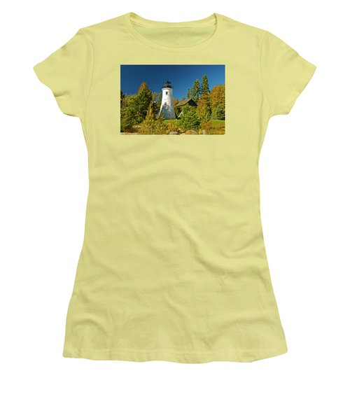 Old Presque Isle Lighthouse_9488 Women's T-Shirt (Athletic Fit)