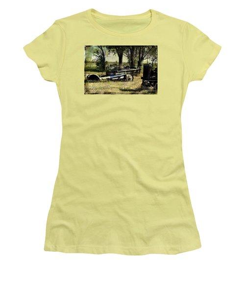Old Rail Women's T-Shirt (Junior Cut) by Deborah Nakano