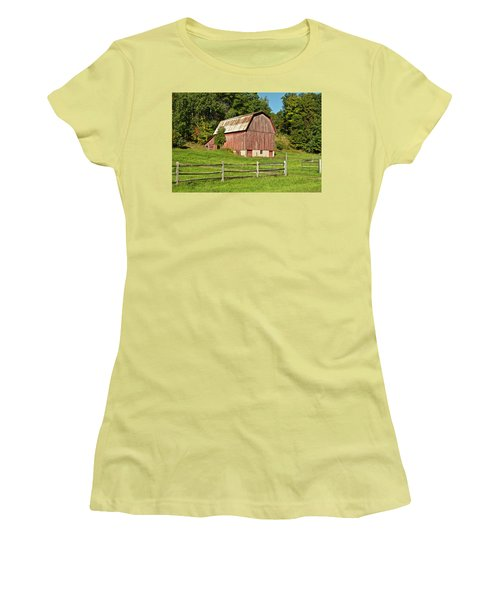Old Red_9374 Women's T-Shirt (Junior Cut) by Michael Peychich