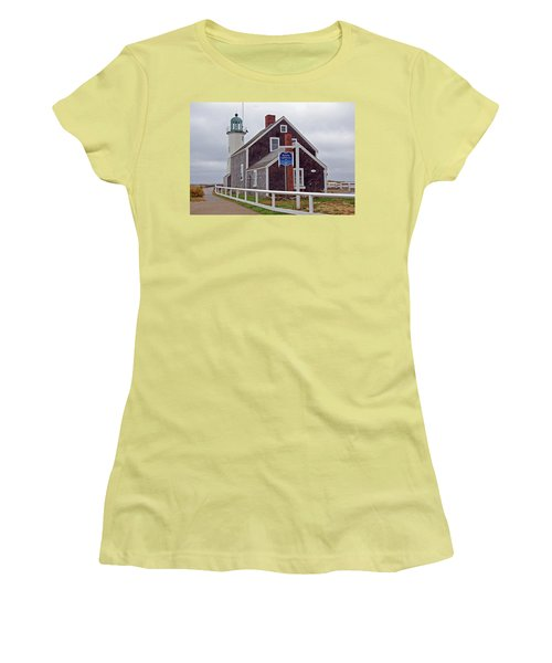 Old Scituate Lighthouse Women's T-Shirt (Athletic Fit)