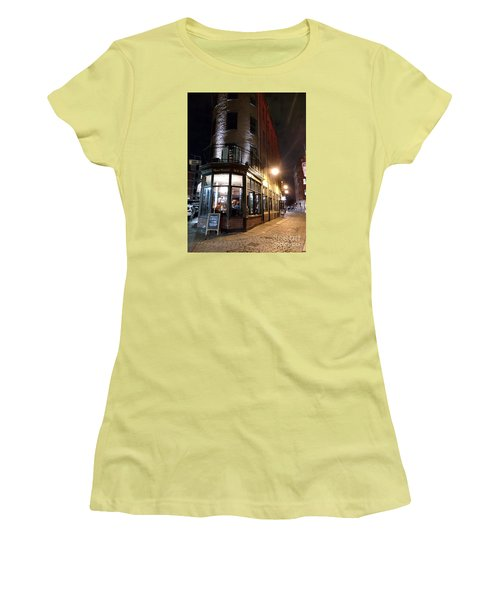 Women's T-Shirt (Junior Cut) featuring the photograph Old Tavern Boston by Haleh Mahbod