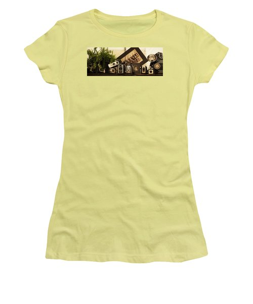 Old Time Photography Women's T-Shirt (Junior Cut) by Cathy Donohoue