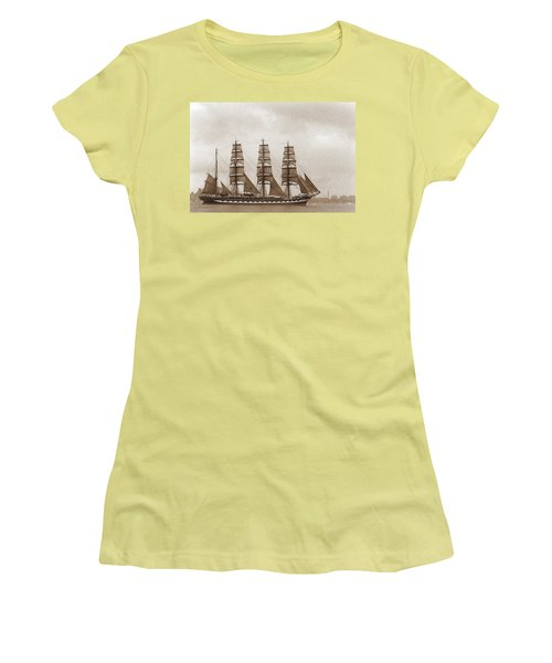 Old Time Schooner Women's T-Shirt (Athletic Fit)