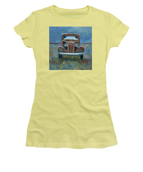 Women's T-Shirt (Junior Cut) featuring the painting Old Timer by Billie Colson