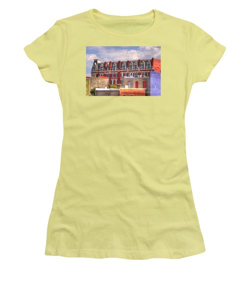Old Town Wichita Kansas Women's T-Shirt (Junior Cut) by Juli Scalzi