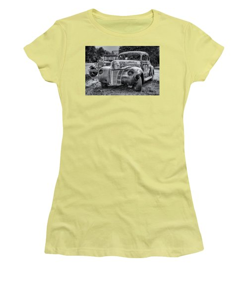 Old Warrior - 1940 Ford Race Car Women's T-Shirt (Athletic Fit)