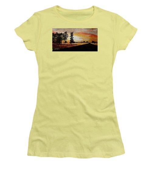 Old Windbreak Women's T-Shirt (Junior Cut) by R Kyllo
