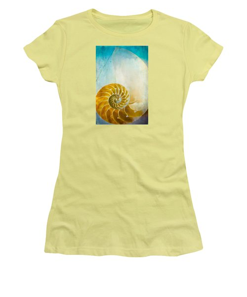 Old World Treasures - Nautilus Women's T-Shirt (Junior Cut) by Colleen Kammerer