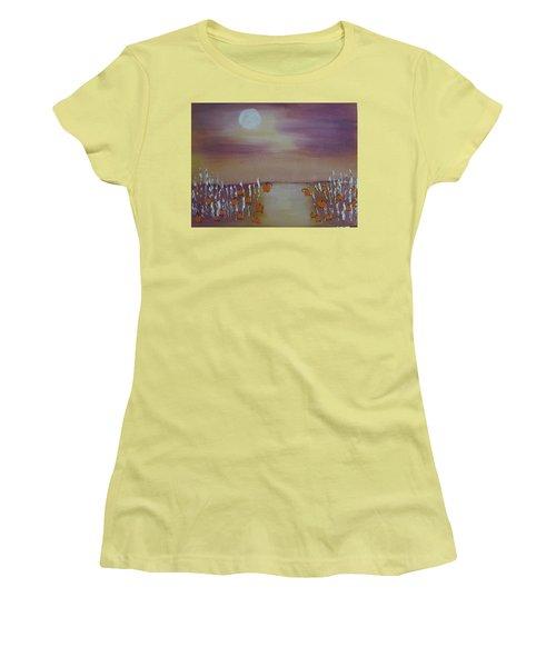 Olde Tyme Pumpkin Patch And Maze Women's T-Shirt (Junior Cut)