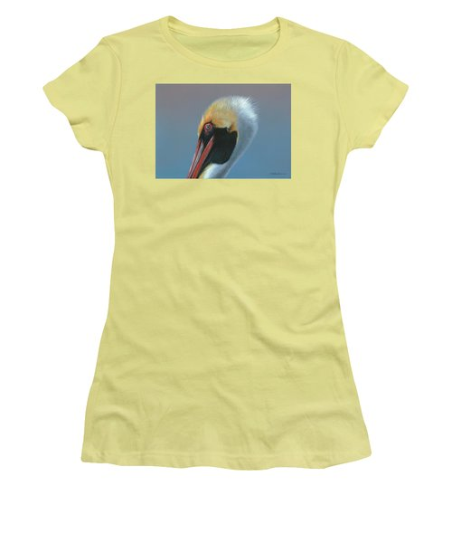 Women's T-Shirt (Junior Cut) featuring the painting Ole Blue Eyes by Mike Brown