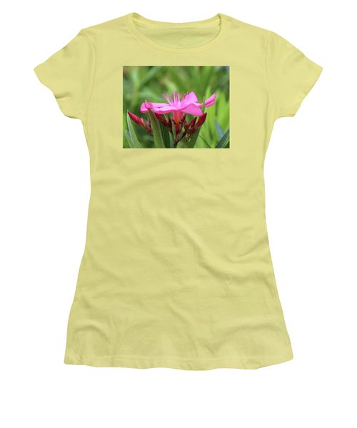 Women's T-Shirt (Junior Cut) featuring the photograph Oleander Professor Parlatore 1 by Wilhelm Hufnagl