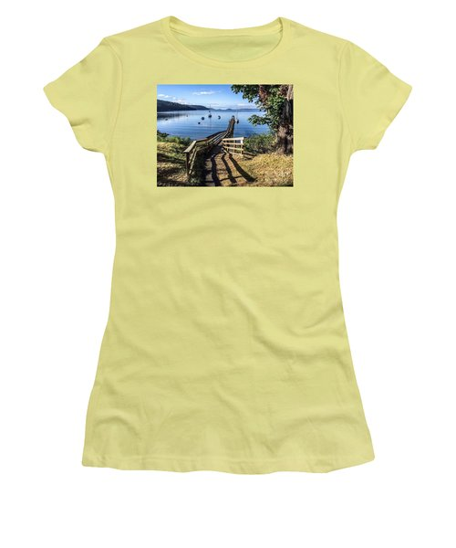 Women's T-Shirt (Junior Cut) featuring the photograph Olga Pier by William Wyckoff