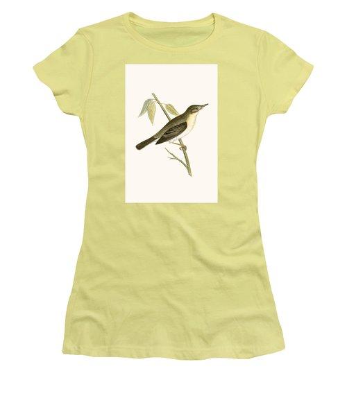 Olivaceous Warbler Women's T-Shirt (Junior Cut) by English School