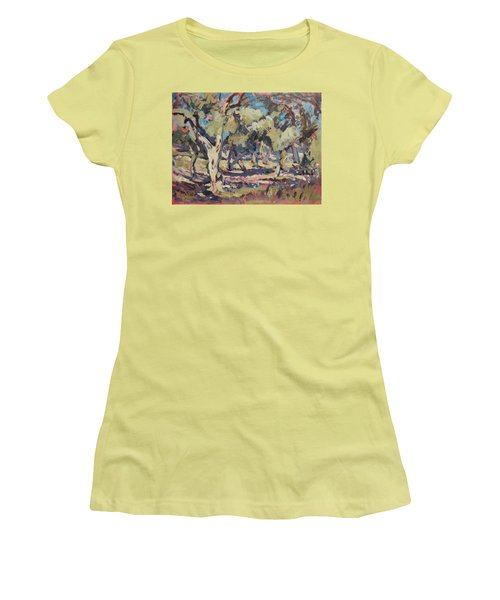 Olive Grove Along Marmari Beach Paxos Women's T-Shirt (Athletic Fit)