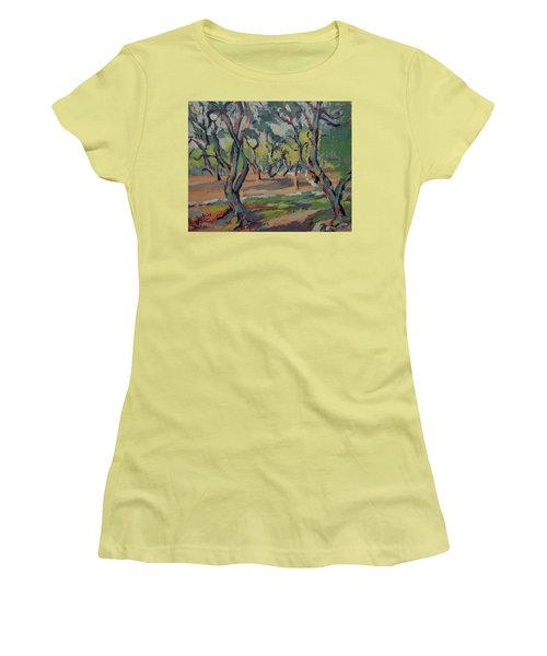 Olive Yard Paxos Greece Women's T-Shirt (Athletic Fit)
